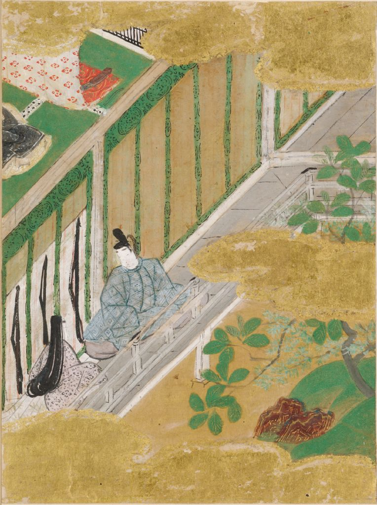 The Oak Tree (Kashiwagi), Illustration To Chapter 36 Of The Tale Of Genji (Genji Monogatari)