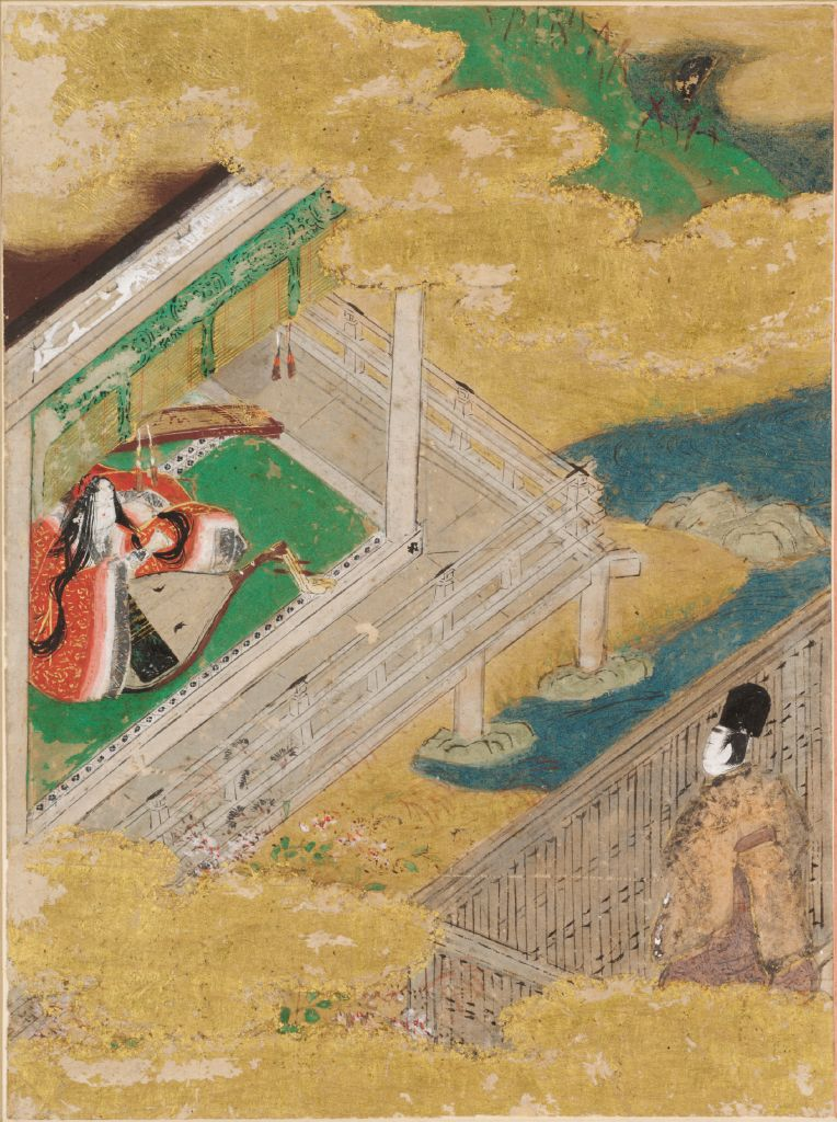 The Maiden Of The Bridge (Hashihime), Illustration To Chapter 45 Of The Tale Of Genji (Genji Monogatari)