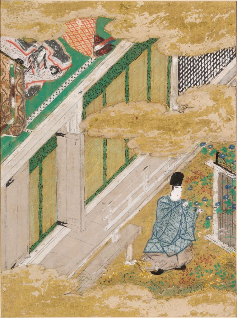 The Ivy (Yadorigi), Illustration To Chapter 49 Of The Tale Of Genji (Genji Monogatari)