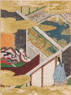 The Eastern Cottage (Azumaya), Illustration to Chapter 50 of the Tale of Genji (Genji monogatari)