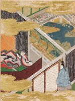 The Eastern Cottage (Azumaya), Illustration To Chapter 50 Of The Tale Of Genji (Genji Monogatari)