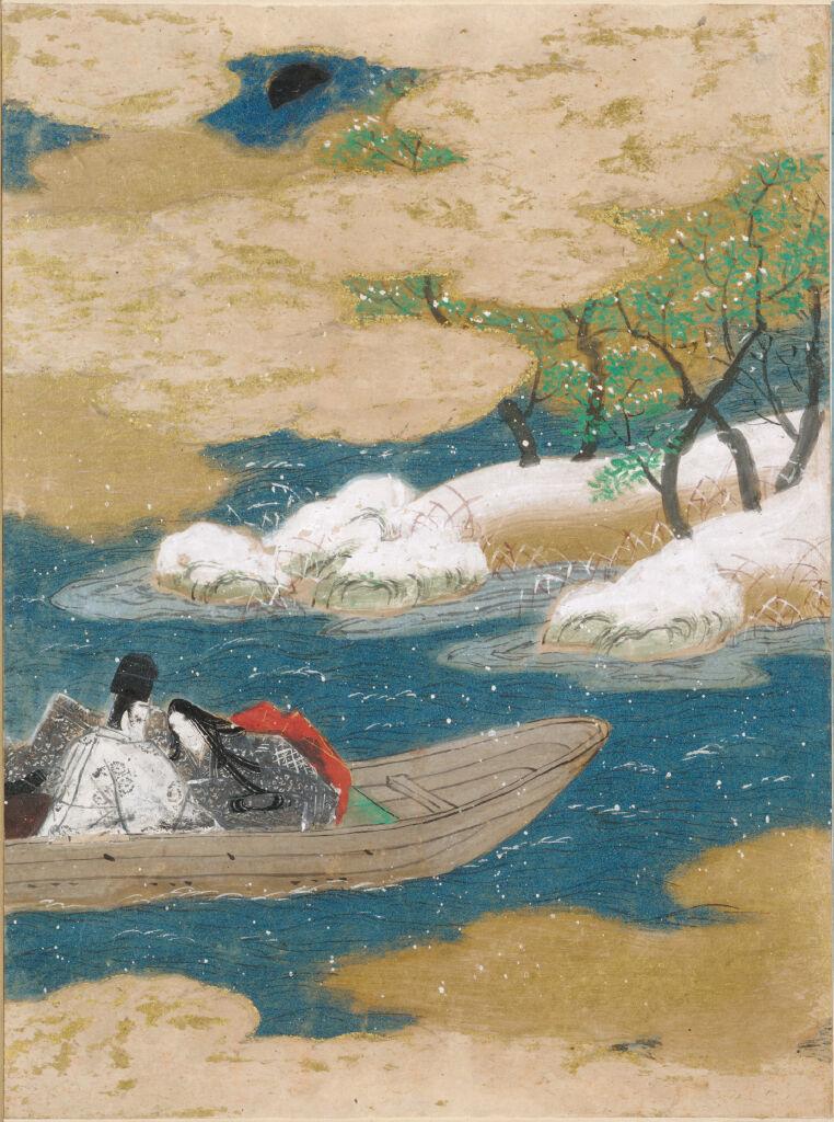 A Drifting Boat (Ukifune), Illustration To Chapter 51 Of The Tale Of Genji (Genji Monogatari)