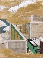 Writing Practice (Tenarai), Illustration to Chapter 53 of the Tale of Genji (Genji monogatari)