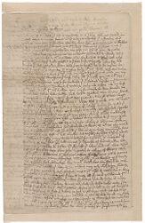 Memorandum of Henry Dunster, 1653 December Digital Object