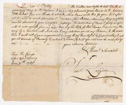 Letter from Samuel Langdon to Betty [Elizabeth] Brown, 1745 June 7 Digital Object