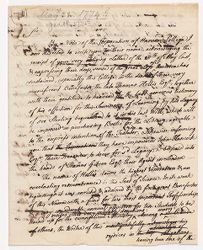 Letter from Samuel Langdon to Thomas Brand Hollis, [1774 January?] Digital Object