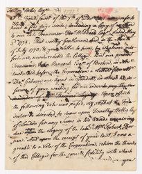 Letter from Samuel Langdon to Timothy Hollis, [1775?] Digital Object