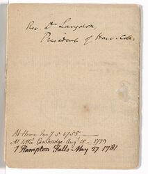 Sermon by Samuel Langdon at home, 1755 January 5 Digital Object