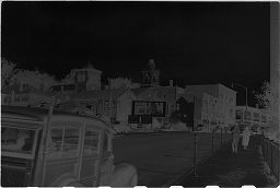 [View Of Street, With The First Parish Church And The Congregational Church Of The Pilgrimage In The Distance, Plymouth, Massachusetts]