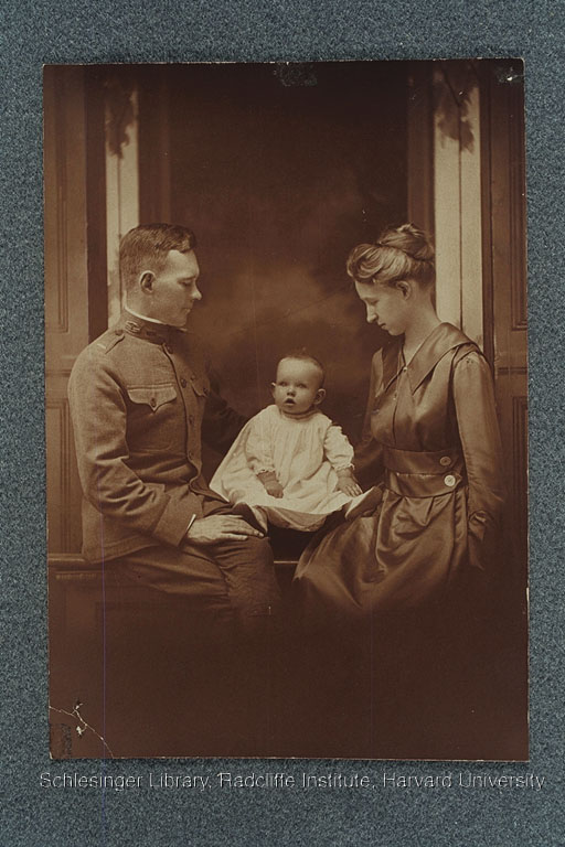 Unidentified young couple with their baby.