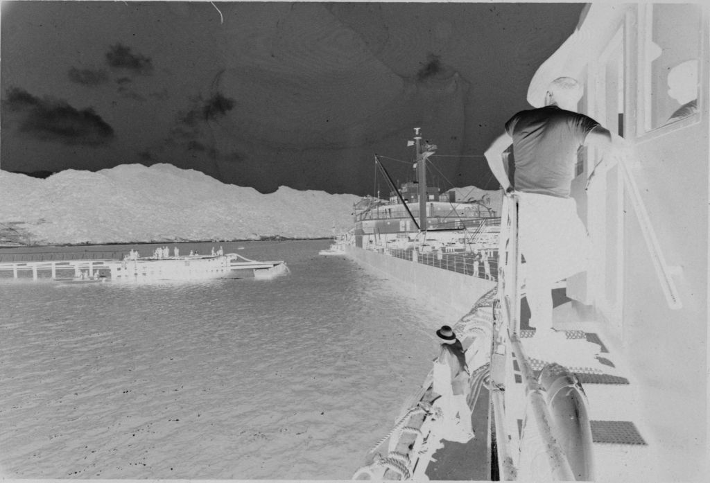 Untitled (Soldier Standing On Side Of Ship On Upper Level, Vietnam)