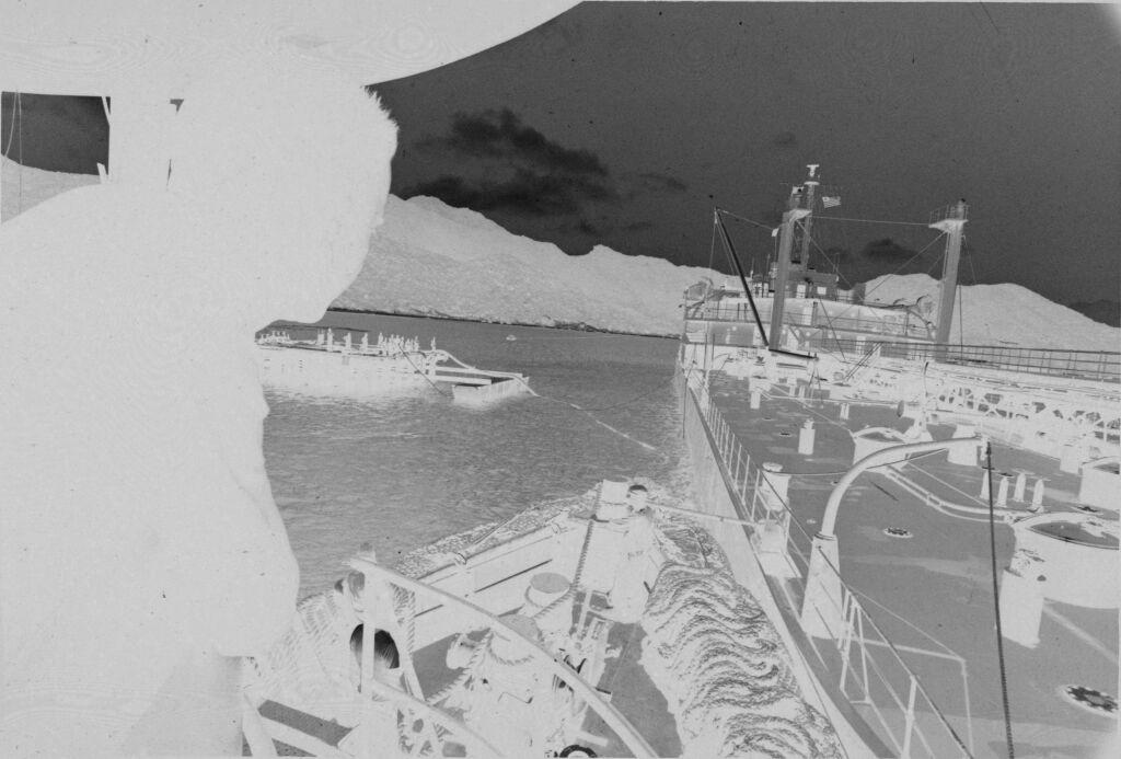 Untitled (View Over Soldier's Shoulder Across Deck Of Ship, Vietnam)