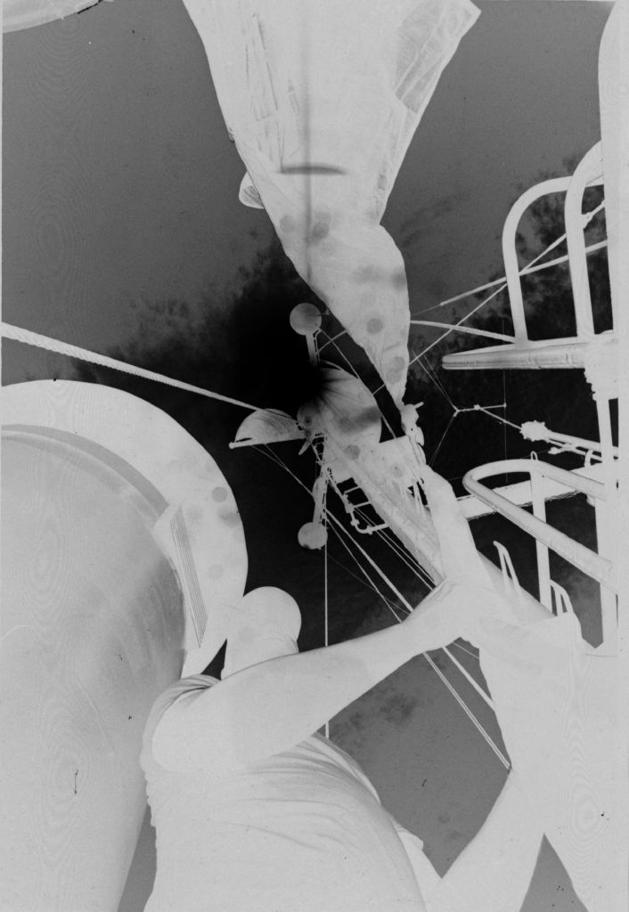 Untitled (Worm's-Eye View Of Soldier On Deck Of Ship, Vietnam)