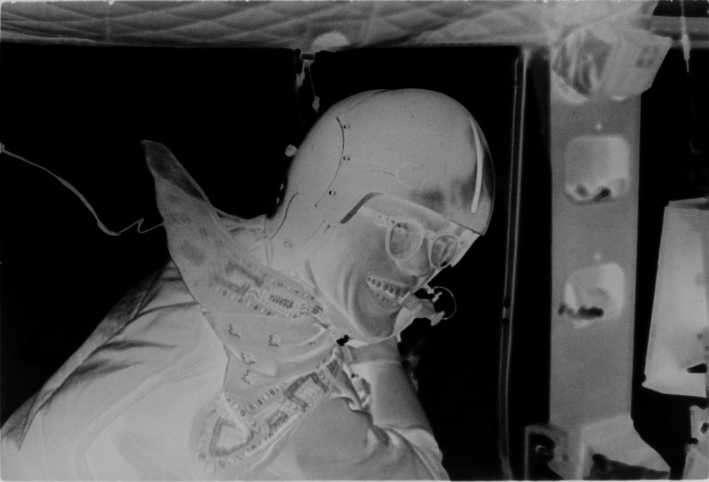 Untitled (Soldier Inside Aircraft Laughing, Vietnam)