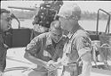 Untitled (Meeting Between Two Soldiers On Deck Of Ship, Vietnam)