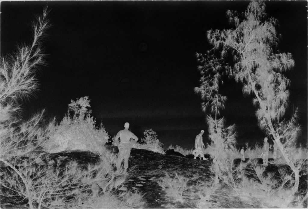 Untitled (Soldiers In Field Awaiting Arrival Of Helicopter, Vietnam)