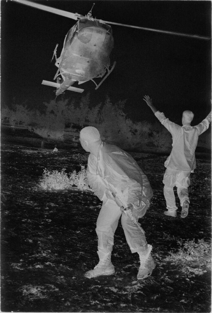 Untitled (Helicopter Landing In Field, Vietnam)