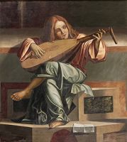 An Angel Playing A Lute, From The Presentation Of Christ In The Temple, After Carpaccio
