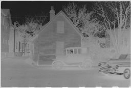 [Clapboard House With Car Parked In Front, New England]