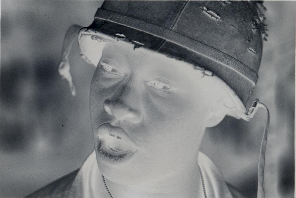 Untitled (Soldier Wearing Helmet, Vietnam)