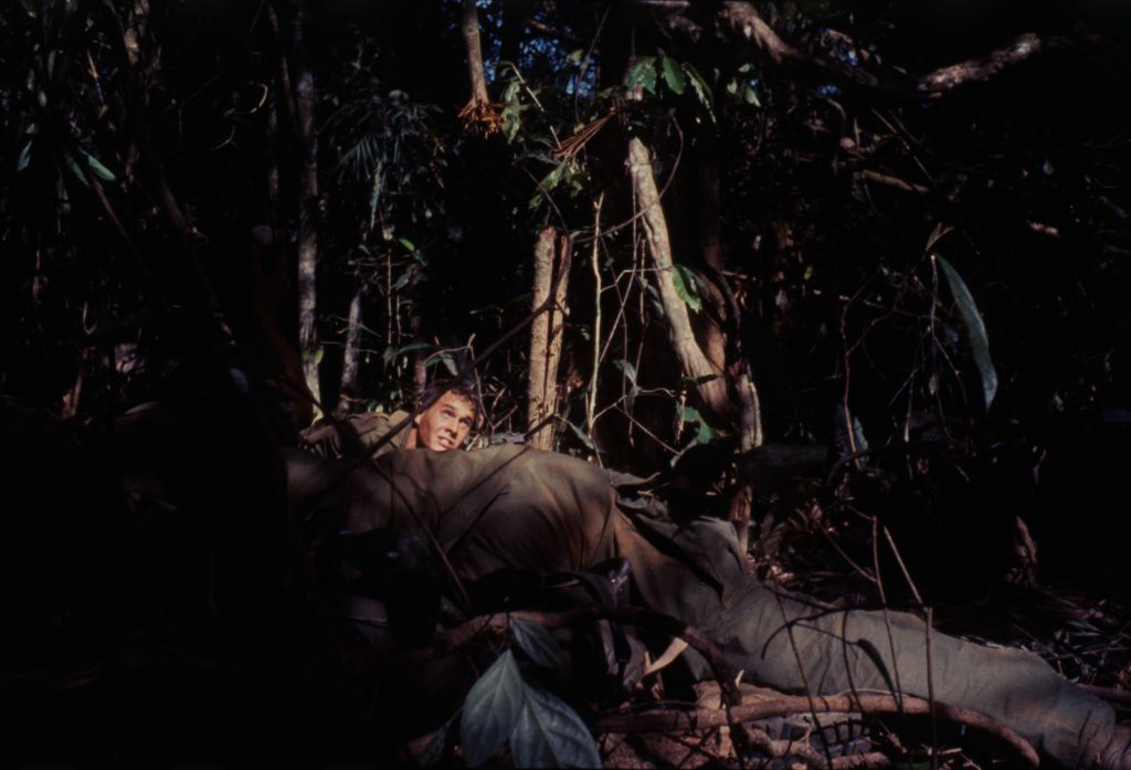 Untitled (Camouflaged Soldiers On Watch In Jungle Of Central Highlands Near Dak To, Vietnam)
