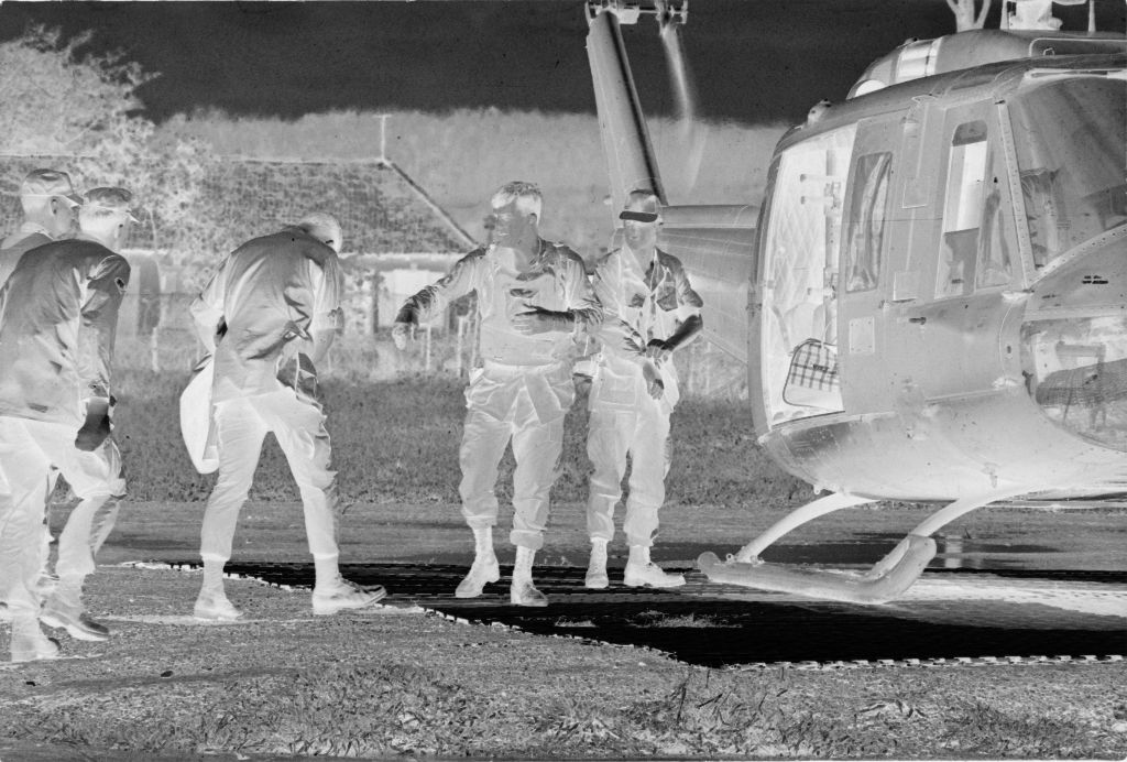 Untitled (Medevac Team Boarding Helicopter, Vietnam)