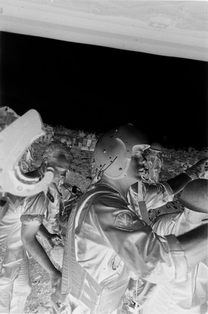 Untitled (Members Of 57Th Medical Detachment And 9Th Infantry Division Loading Wounded Soldiers Into Medevac Helicopter, Vietnam)