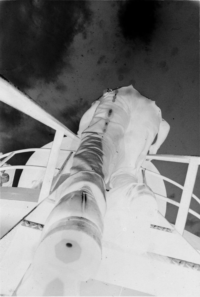 Untitled (Bird's-Eye View Of Soldier On Ladder On Exterior Of Ship, Vietnam)