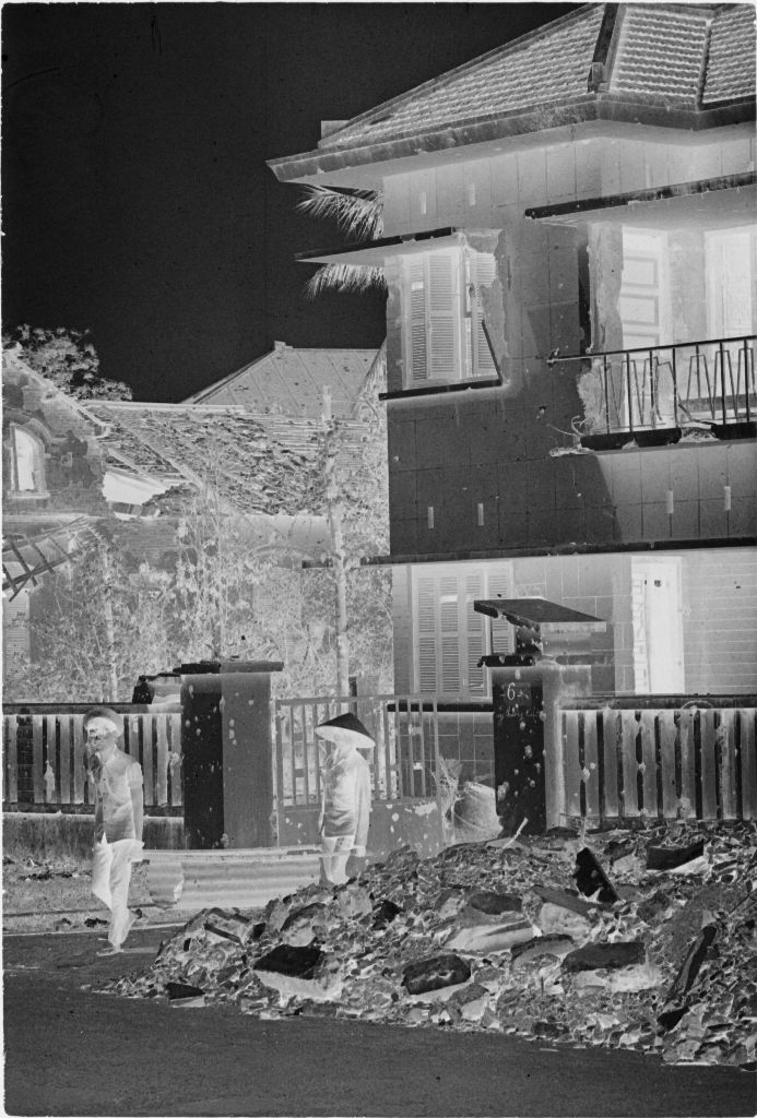 Untitled (Damaged Building With Rubble In Front, Hue, Vietnam)