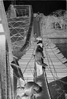 Untitled People Crossing Makeshift Span Of Partially Collapsed Bridge, Perfume River, Hue, Vietnam)