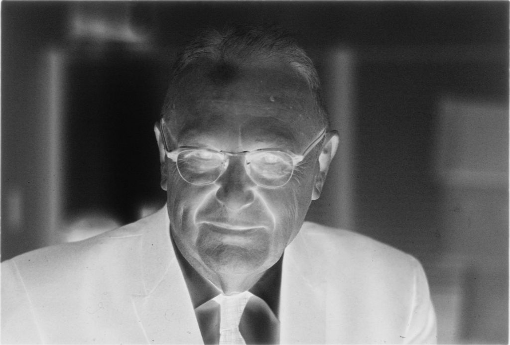 Untitled (Dr. Herman M. Juergens In Glasses, Black Coat And Tie)