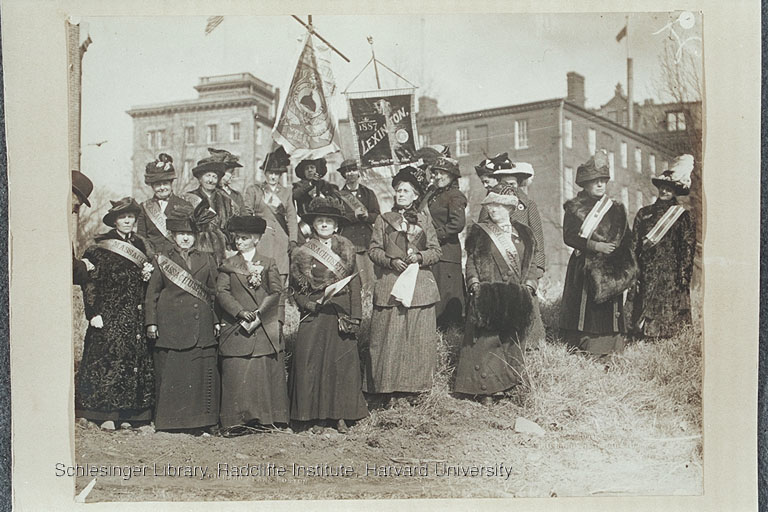 Massachusetts suffragists at a 1913 parade.