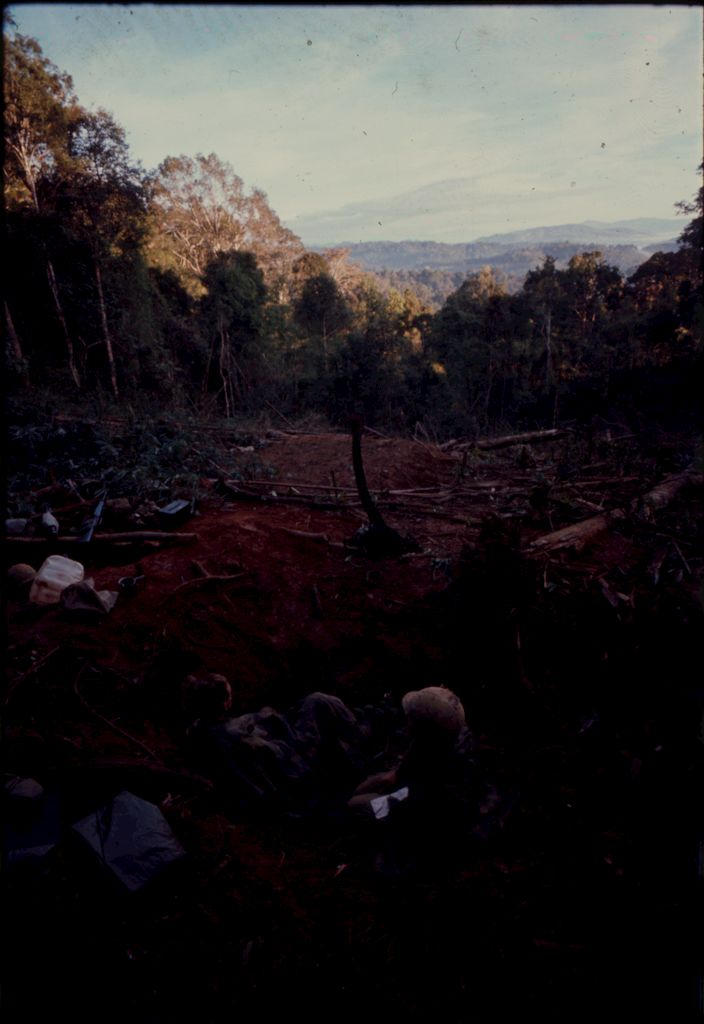 Untitled (Soldiers In Clearing Near Top Of Hill 882 In Central Highlands Near Dak To, Vietnam)
