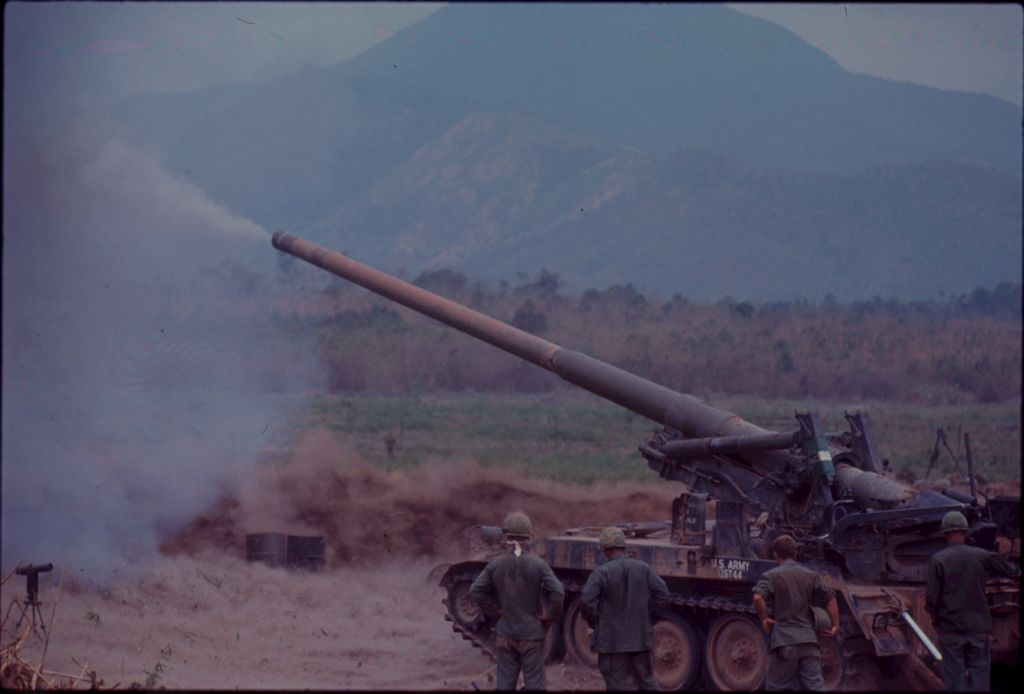 Untitled (Firing Tank In Clearing, Vietnam)