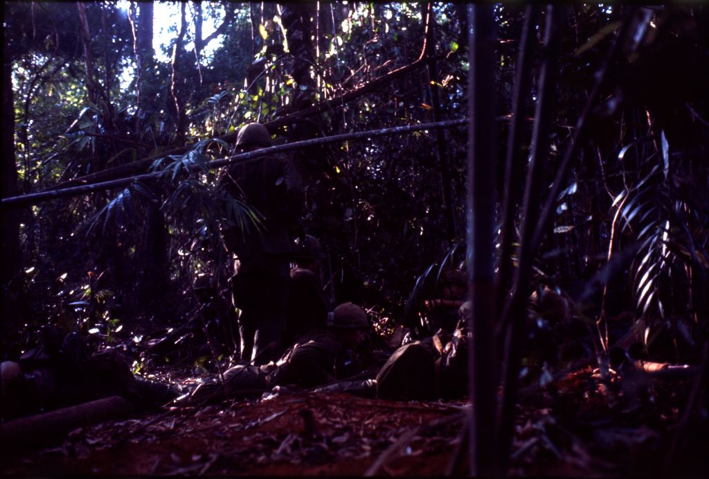 Untitled (Soldiers In Jungle Of Central Highlands Near Dak To, Vietnam)
