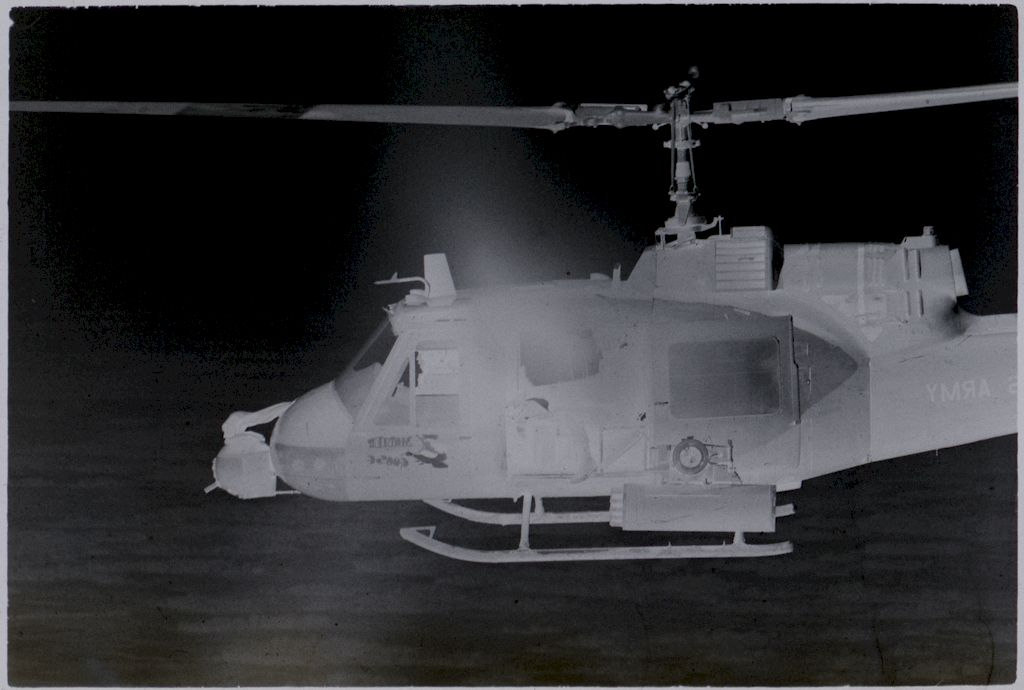 Untitled (Helicopter Gunship Flying Over Jungle South Of Saigon, Vietnam)