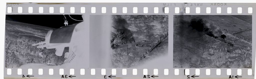 Untitled (View From Helicopter Gunship Of Viet Cong Post South Of Saigon, Vietnam)