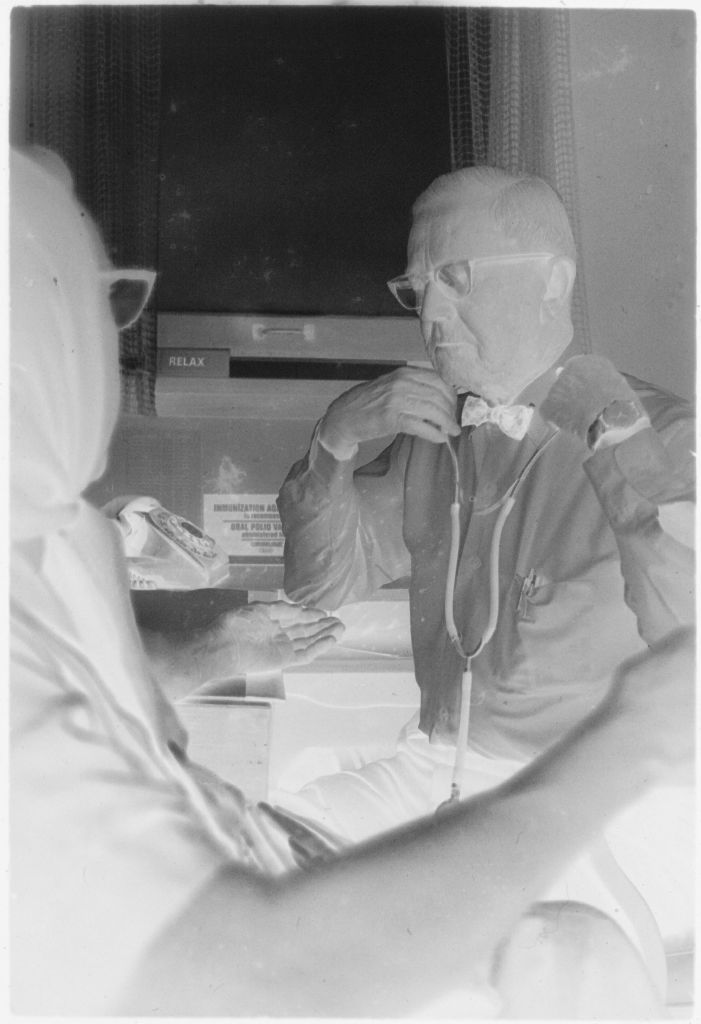 Untitled (Dr. Herman M. Juergens Checking Patient's Blood Pressure)