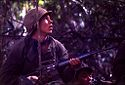 Untitled (Soldier Looking Into Trees During Fighting In Central Highlands Near Dak To, Vietnam)