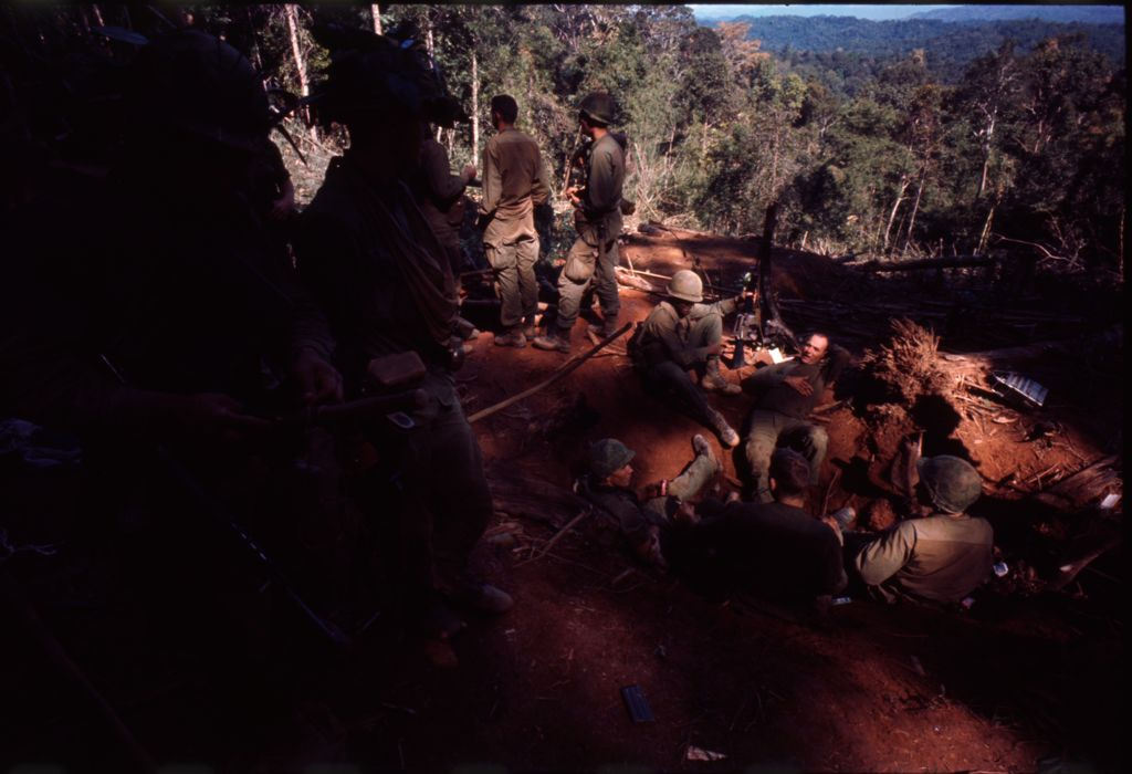 Untitled (Soldiers In Clearing Near Top Of Hill 882, Central Highlands Near Dak To, Vietnam)