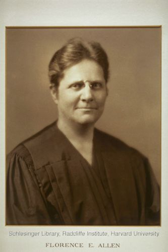 Portrait of Florence Allen