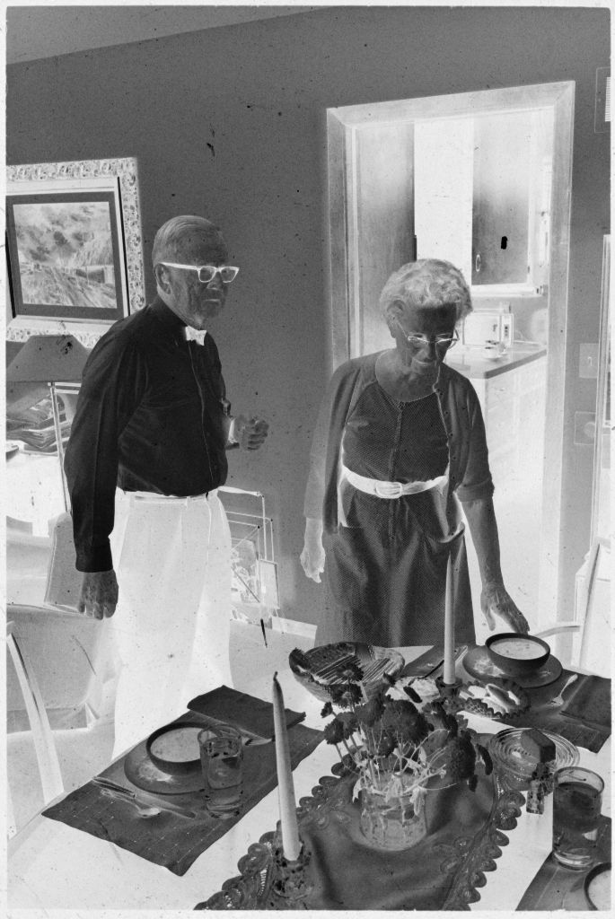 Untitled (Dr. Herman M. Juergens And Wife(?), Leona, Standing By Dining Room Table)