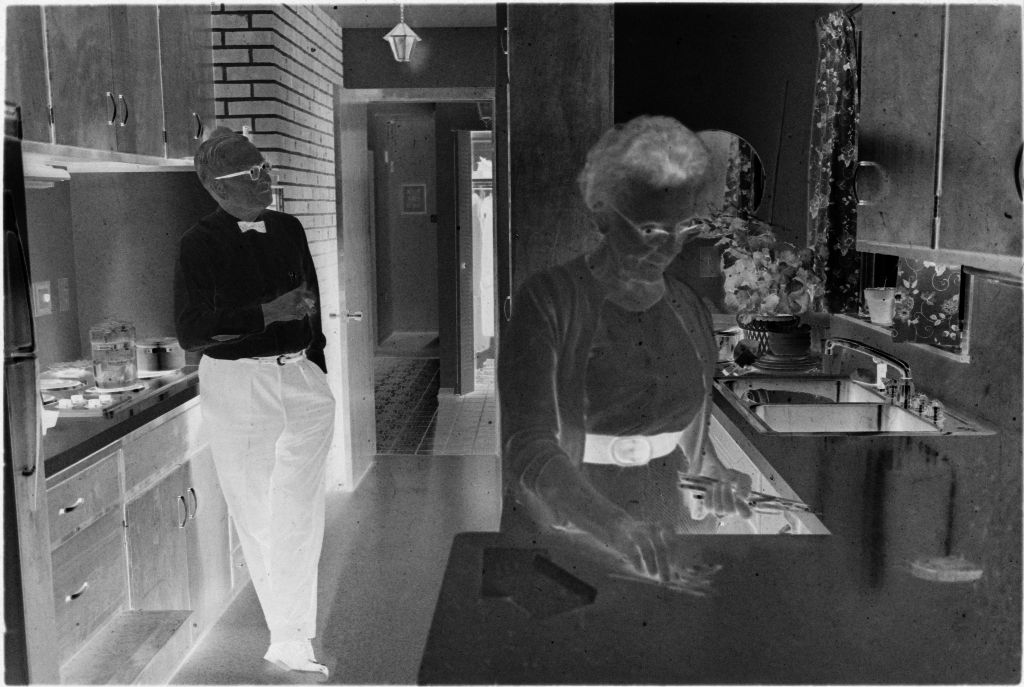Untitled (Doctor And Wife(?), Leona, In Kitchen)