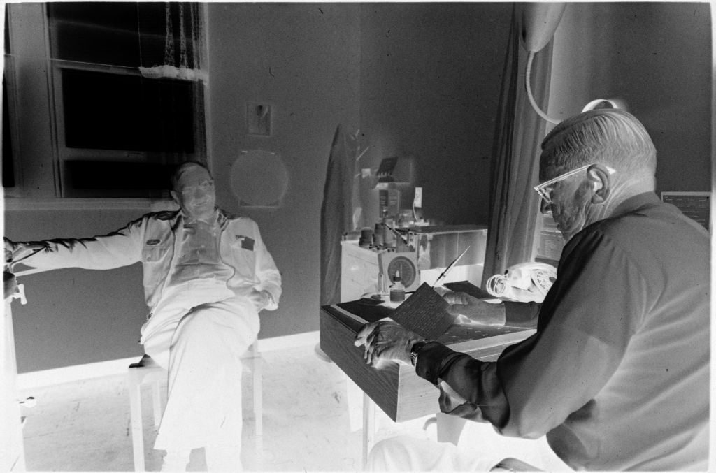 Untitled (Dr. Herman M. Juergens And Patient Talking In Exam Room)