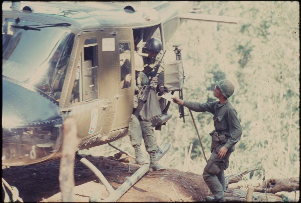 Untitled (Helicopter Picking Up Soldiers In Jungle Of Central Highlands Near Dak To, Vietnam)