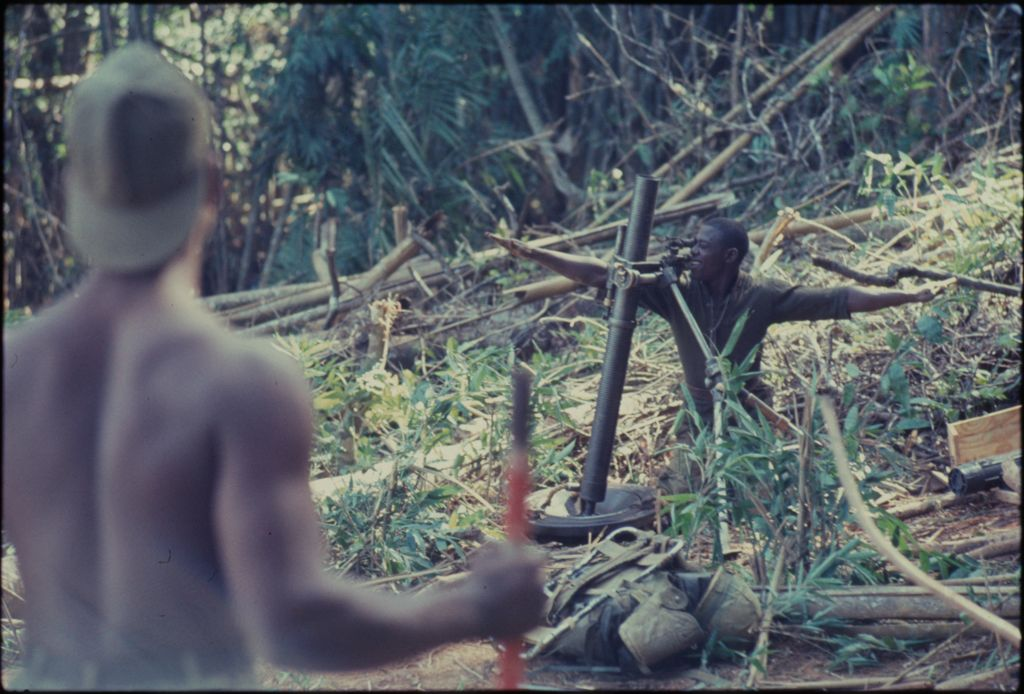 Untitled (Soldiers In Jungle, Central Highlands Near Dak To, Vietnam)