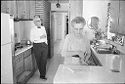 Untitled (Dr. Herman M. Juergens And Wife(?), Leona, In Kitchen)