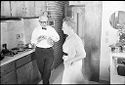 Untitled (Dr. Herman M. Juergens And His Wife(?), Leona, In Kitchen)