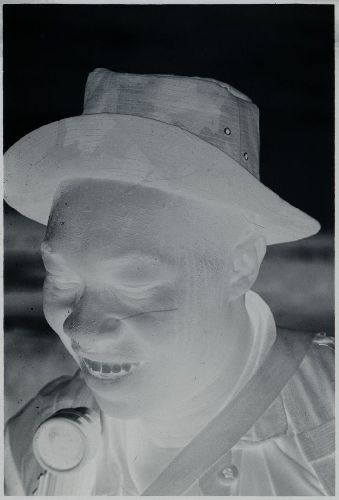Untitled (Soldier In Camouflage Hat Smiling, Vietnam)