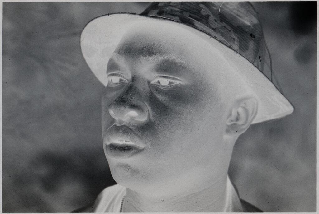 Untitled (Soldier In Camouflage Hat, Vietnam)